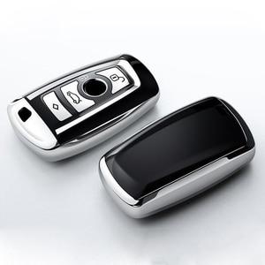 Image 2 - High Quality TPU Chrome Car Key Cover Key Bag fit for BMW X3 X4 X5 X6 1/3/5/7 Series M3 Key Shell Protector Auto Key Case Chains