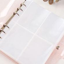 Chaude Pages D'album Photo Porte-Carte Carte Transparente Manches Stockage Pages D'album Porte-Photo Portatif de PVC Album Photo Titulaire
