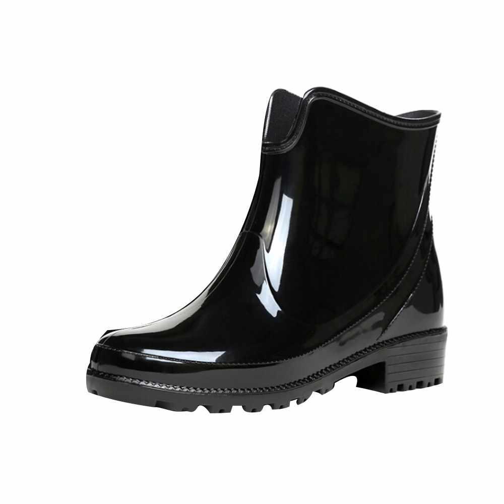 Delle Donne di Stile europeo Stivali Da Pioggia Cunei Tubo Corto Stivali Da Pioggia antiscivolo Scarpe di Acqua Impermeabili 35-41 rainboots per Le Donne