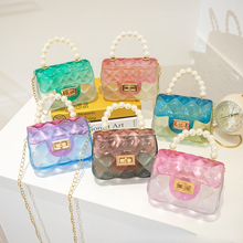2021 PVC New Jelly Handbag Shoulder Bag Women Transparent Jelly Bag Ladies Bags Clear Bag Lovely Pink Girl Student Clear Purses