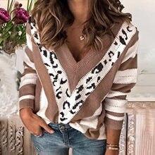 Blusa informal de manga larga con estampado a rayas para verano, camisa Sexy con cuello de pico para mujer, varios colores, #40