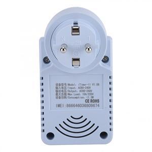 Image 4 - חכם GSM תקע לשקע חכם מתג שקע חשמל תקע שקע withTemperature חיישן SMS פקודת בקרת האיחוד האירופי Plug