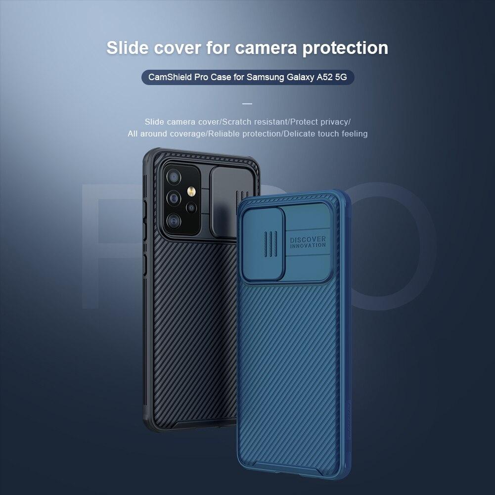Für Samsung A52 5G Fall für Galaxy A52 4G Abdeckung Original NILLKIN  Rutsche Abdeckung Kamera Schutz Stoßfest Zurück abdeckung Stoßstange|Phone  Case & Covers