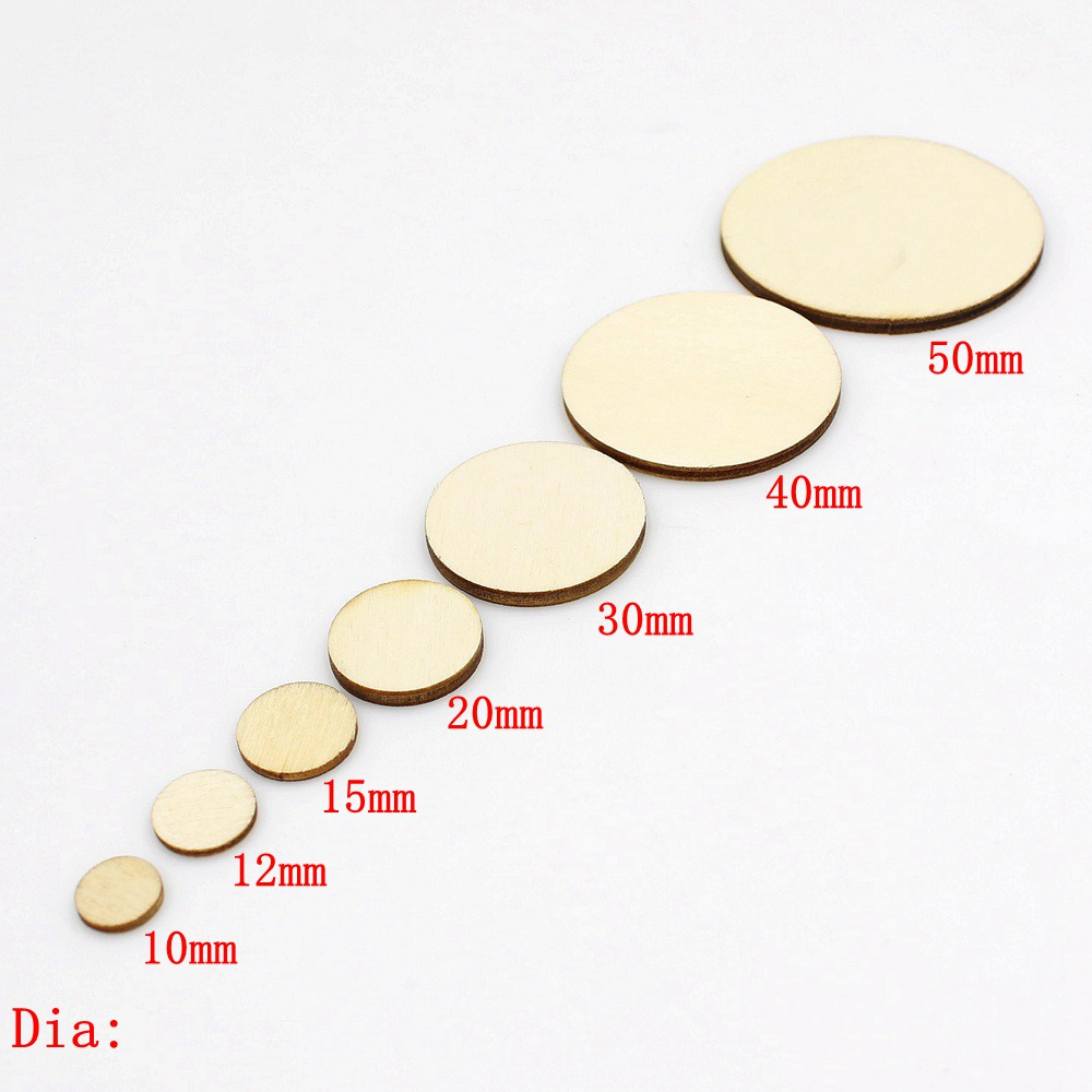 15/100pcs 10-50mm Unfinished Wooden Round Circles Ring Craft Card Making Scrapbooking DIY Embellishment Arts Decorative Craft