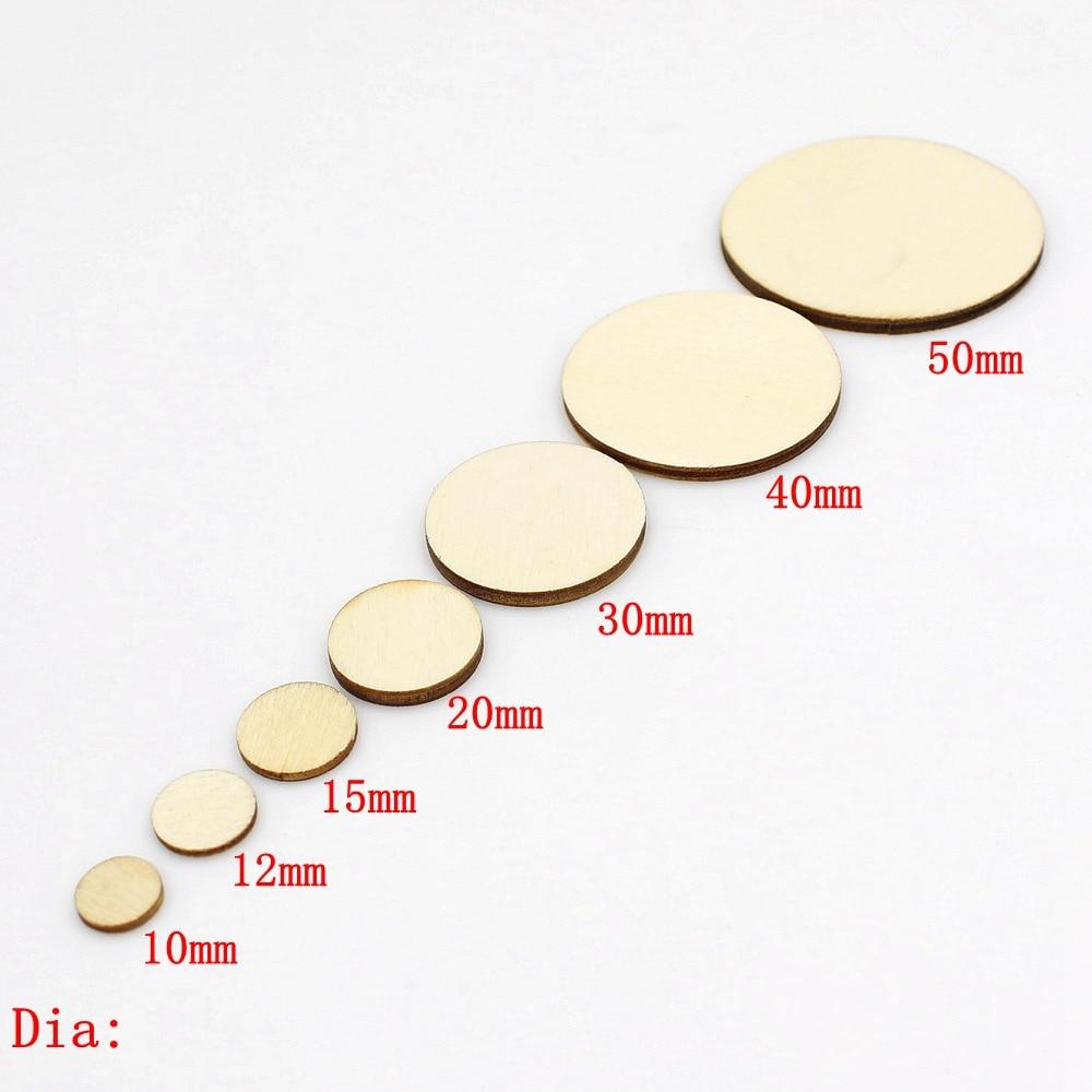 15/100pcs 10-50mm Unfinished Wooden Round Circles Ring Craft Card Making Scrapbooking DIY Embellishment Arts Decorative Craft
