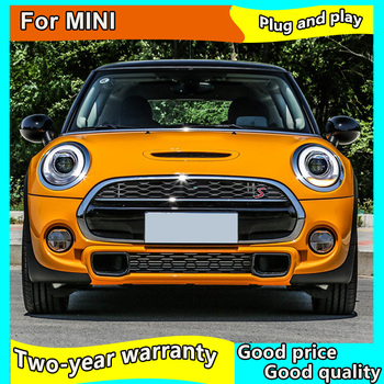 Car Styling For Mini F56 cooper led headlights For F56 head lamp Angel eye led DRL front light Bi-Xenon Lens xenon HID