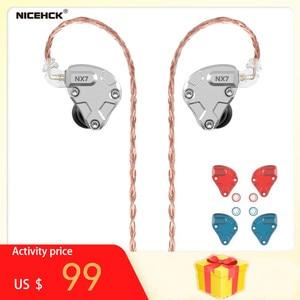 Image 1 - NICEHCK NX7 פרו 7 נהג יחידות באוזן אוזניות 4BA + כפולה CNT דינמי + להחלפה מסנן Facepanel IEM HIFI אוזניות אוזניות