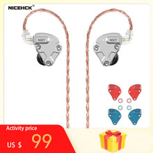NICEHCK NX7 Pro 7 Driver Units In Ear Earphone 4BA+Dual CNT Dynamic+Replaceable Filter Facepanel IEM HIFI Earbuds Earphones