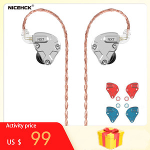 Image 1 - NICEHCK NX7 Pro 7 Driver Units In Ear Earphone 4BA+Dual CNT Dynamic+Replaceable Filter Facepanel IEM HIFI Earbuds Earphones