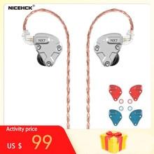 NICEHCK auriculares internos NX7 Pro, 7 unidades, 4BA + doble CNT dinámico + filtro reemplazable, auriculares HIFI IEM