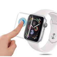 Защита экрана для Apple Watch 5 4 44 мм 40 мм 9D полное покрытие Защита от царапин защитная Гидрогелевая пленка аксессуары для часов