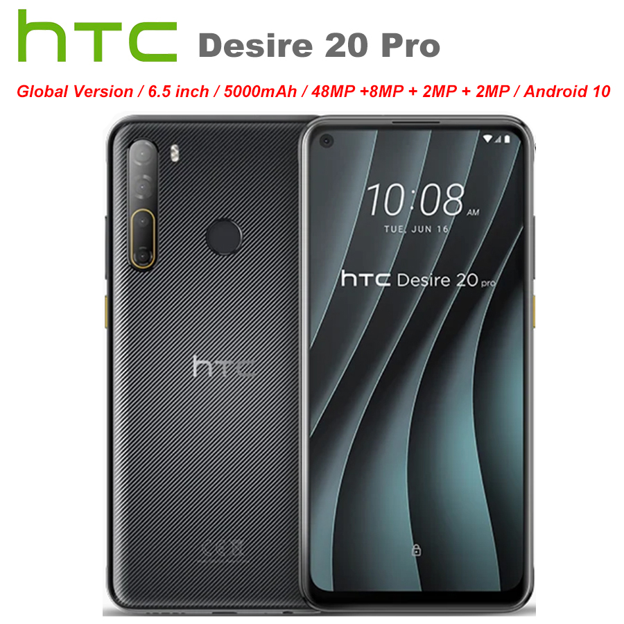 """Brand New HTC Desire 20 Pro 4G Mobile Phone 6.5"""" 6GB RAM 128GB ROM 48MP Camera Snapdragon665 Octa Core Android 10.0 Cell Phone"""