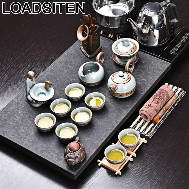 Aksesuarlari Theepot Organizer Shabby Chic Garden Kung Fu With Infuser Pot Teapot Home Decoration Accessories Chinese Tea Set|Teaware Sets| |  - title=