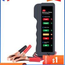 Тестер аккумулятора автомобиля, цифровой тестер генератора переменного тока Ediag BM310 для автомобиля, автомобиля, мотоцикла, дисплей, инструм...