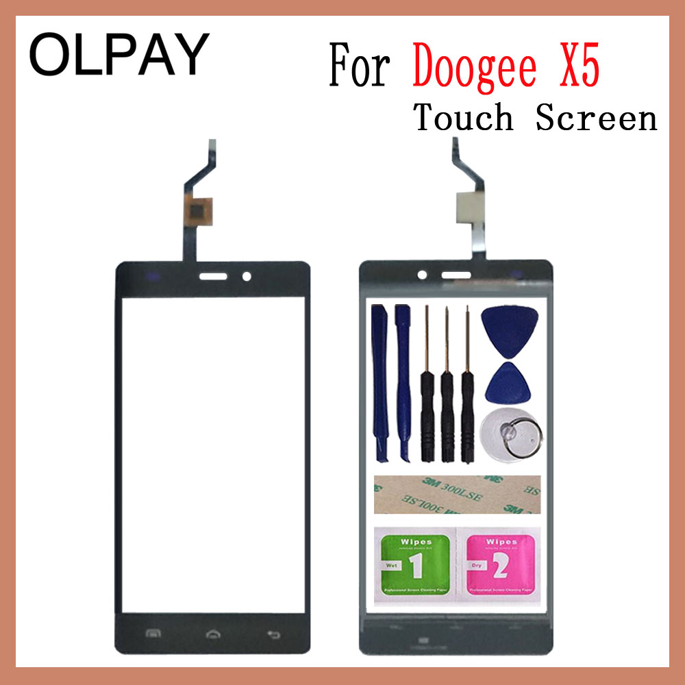 5.0'' Inch Mobile Phone Touch Screen For Doogee X5 / Doogee X5 Pro Touch Screen Digitizer Panel Front Glass Lens Sensor Tools