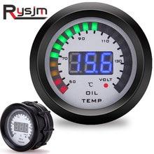 52mm oil temp gauge 2 In 1 Car Digital ALARM Gauge Pressure Voltmeter Volt meter Temperature temperature sensor12v