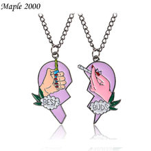 Trend Classic Best Friend Dear Couple Pendant Necklace Love Witness Jewelry Men's Alloy Personality Popular Necklace