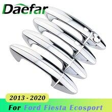 8 шт./компл. ABS хромированные дверные ручки крышки для автомобиля Ford Fiesta Ecosport 2013 2014 2015 2016 2017 2018 2019 2020 аксессуары