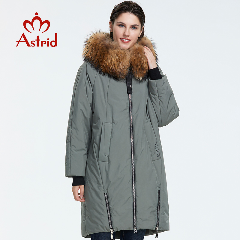 Astrid 2019 Inverno nova chegada para baixo mulheres jaqueta solta roupas com pele outerwear revestimento das mulheres de alta qualidade de algodão grosso AR-9246
