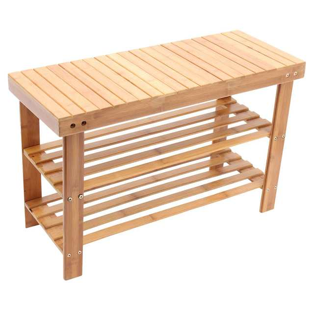 Wooden Entryway Shoe Bench 4