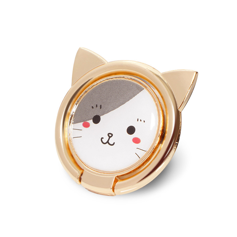 Metal Animal Cute Cat Finger Ring Smart Phone Stand Holder Mobile Phone Holder Stand For IPhone Xiaomi Huawei P9 All Phone Mount