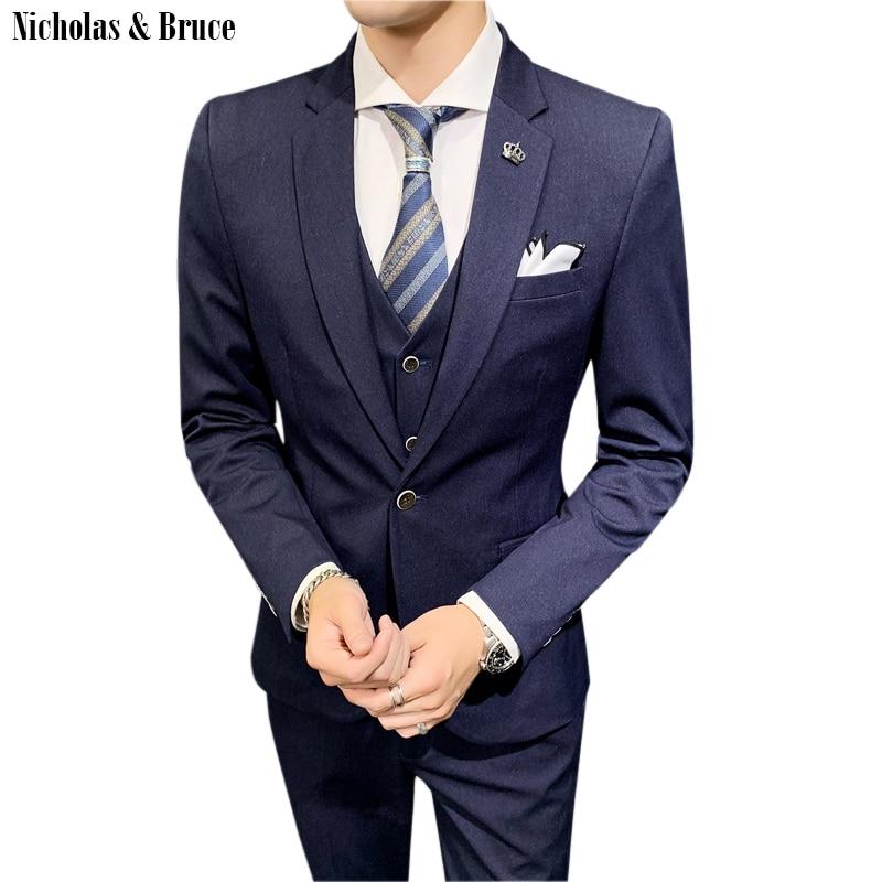 N B New Fashion Groom Tuxedo Men Wedding Suits Male Blazers 3 Piece Suit Jacket Vest Pant 2020 Latest Coat Pant Designs Sr57 Suits Aliexpress