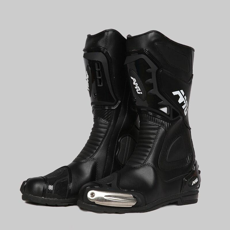 Motosiklet botları erkek mikrofiber deri off road motosiklet botları su geçirmez soop motosiklet botları motosiklet binici çizmeleri mot|Güvenlik Ayakkabıları|Güvenlik ve Koruma - title=