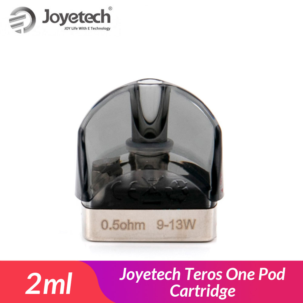 Original Joyetech Teros One Replacement Pod Cartridge 2ml E-cig Vape Pod With 0.5ohm Mesh Coil For Teros One (2pcs/pack)