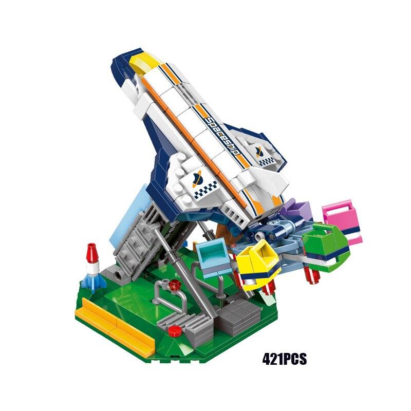 criador parque de diversoes passeios mini rotativa octopus moc bloco construcao tijolo brinquedo educativo colecao para
