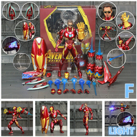 Iron Man Action Figure Mark 85 and Mark 50 Armors with LED Weapons 6inch 4