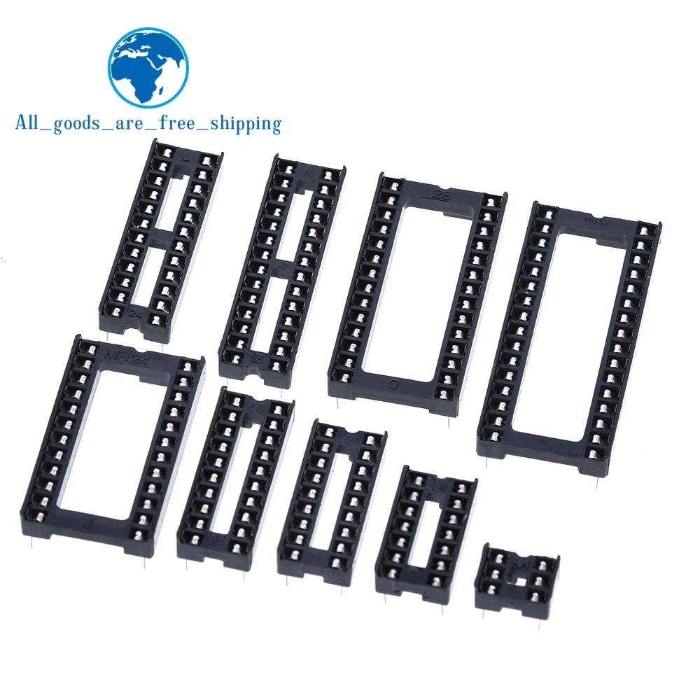 10 шт. IC сиденье 6P/8 P/14P/16P/18P/20P/24P/28 P DIP ИС адаптер припоя Тип 28 контактный узкий корпус гнезда DIP MCU сиденья 24 контакта