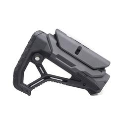 Stock extensible ajustable de nailon táctico para pistolas de aire CS deporte Paintball Airsoft táctico BD556 Gel receptor de explosión caja de cambios