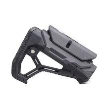 Tático náilon ajustável estendido estoque para armas de ar cs esporte paintball airsoft tático bd556 gel blaster receptor caixa de velocidades
