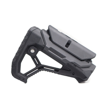 Tactical Nylon Adjustable Extended Stock for Air Guns CS Sport Paintball Airsoft Tactical BD556 Gel Blaster Receiver Gearbox