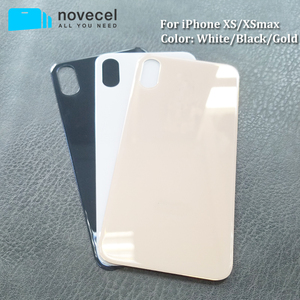 Image 3 - 10 sztuk Big Hole metalowa rama pokrywa baterii tylne drzwi obudowy telefonu obudowa tylna pokrywa dla iPhone X XS MAX szklane ciało powrót obudowa