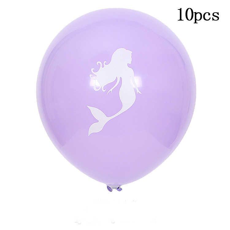Cartoon Mermaid theme party บอลลูนสาวแต่งงาน happy birthday party ตกแต่งบอลลูนอาบน้ำเด็กอุปกรณ์