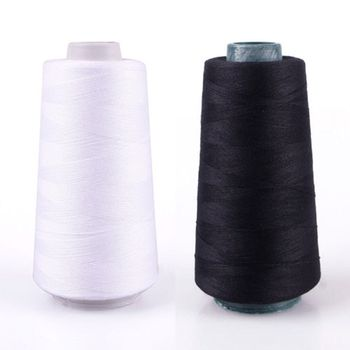 Best 3000M Polyester Yards Sewing Thread Black and White Industrial String DIY Strong and Durable Clothes Sewing Accessories image