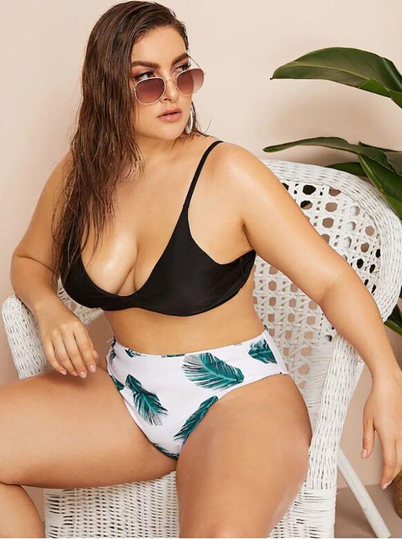 Women Swimwear Summer Push Up Swimsuit Bikini Set Sexy Print Plus Size Bathing Suit Beachwear Bikinis XXXL