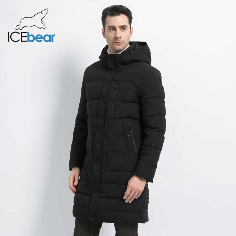 Icebear 2019 Nieuwe Winter Jas Winddicht Mannelijke Katoen Mode Heren Parka Casual Man Jassen Hoge Kwaliteit Mannen Jas MWD18826I