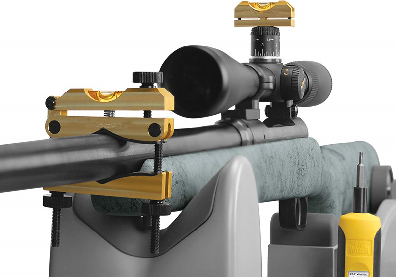 Riflescope Reticle Leveling System With Heavy-Duty Construction, Universal Design And Storage Case For Gunsmithing