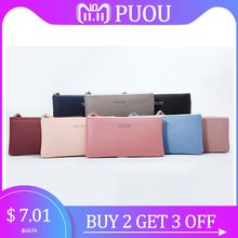 Wallets Purse Coin Card Holder Female Clutch Money Bags Solid phone PU Leather Zipper Fashion Wallets Women 2019 blue pink red