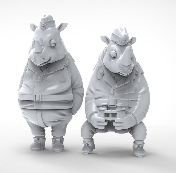 1/35 Modern Animal Watch Crew Set   Resin Figure Model Kits Miniature Gk Unassembly Unpainted