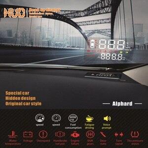 Image 4 - Liandlee carro projetor de velocidade hud head up display para toyota alphard 2018 2019 multi funcional uso especial overspeed aviso