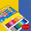 Пластиковый восковый карандаш  12/18/24 цветов  цветные карандаши для рисования  цветной карандаш  детский студенческий карандаш GLP617