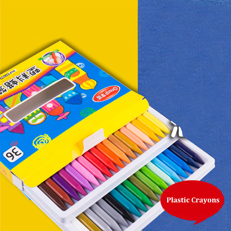 12/18/24 Colors Plastic Crayon Wax Crayon Color Painting Sticks Color Crayon Color Pencil Children Student Caryon GLP617