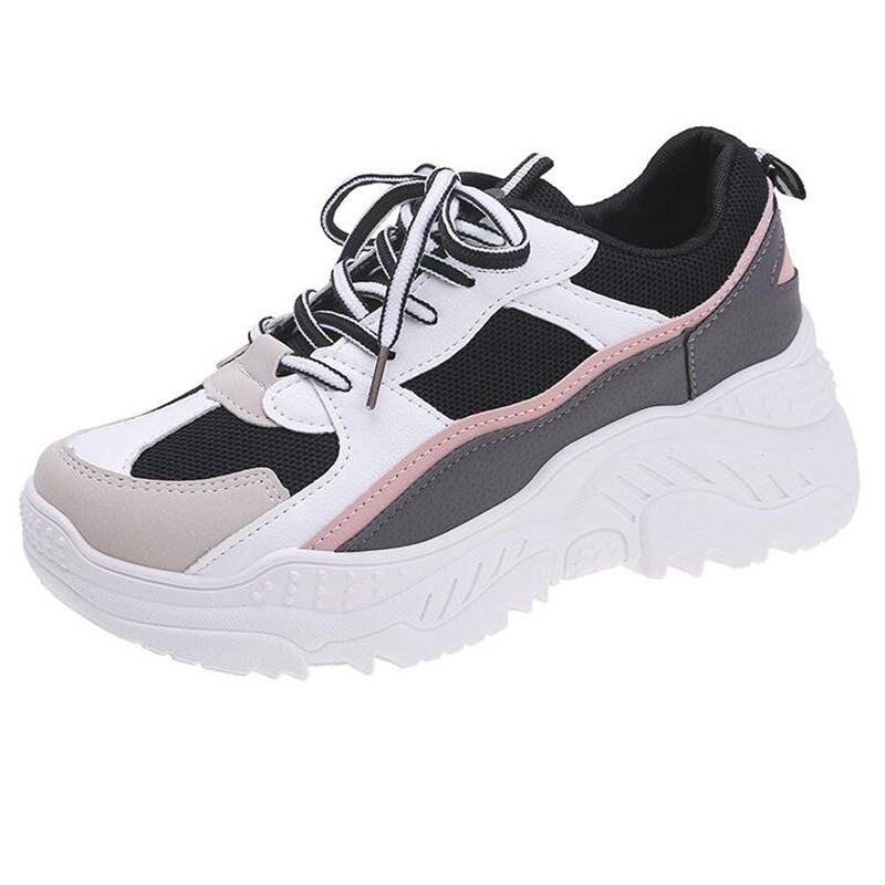 PU Running Shoes For Sneakers Women Scarpe Donna Breathable Feminino Zapatillas Mujer Basket Femme 2019 Deportivas Zapatos