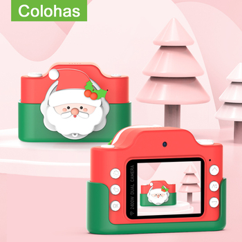 Aparat dla dzieci Boże narodzenie Santa dla dzieci aparat fotograficzny Mini zabawka dla dzieci dzieci aparatu aparat fotograficzny dla prezenty na urodziny boże narodzenie zabawki dla dziewczynek tanie i dobre opinie Colohas 2x-7x CN (pochodzenie) Brak Hd (1280x720) 4 3 cali 18-55mm 24 0MP KC-013 Karta sd Standardowy ekran 2 -3 Bateria litowa