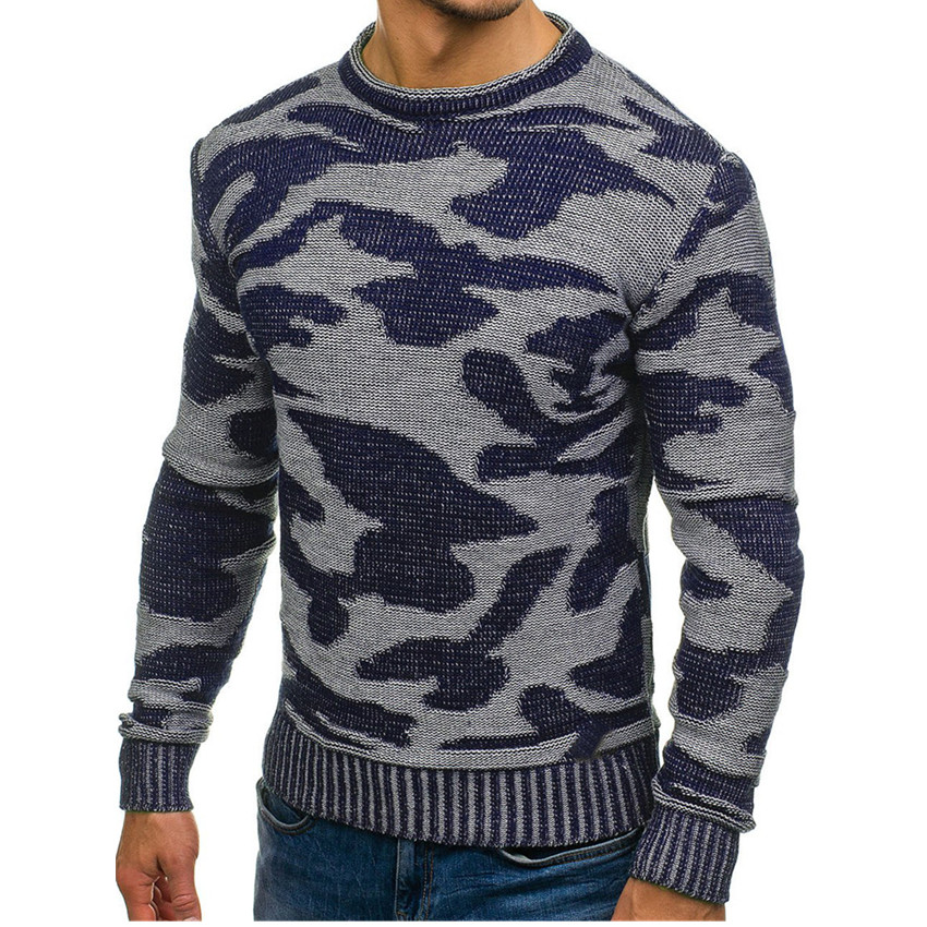 Sweater Men Winter 2019 Mens Pullover Knitted Sweaters Camouflage Sweaters High Quality Cashmere Sweater Man Pull Homme Pullover