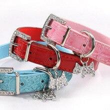 Collar Puppy Neck-Strap Dog-Leash Pet-Accessories Cat Animal 1PCS Pet-Buckle Crystal-Pendant