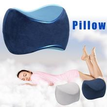 Orthopedic Memory Foam Knee Wedge Pillow for Sleeping Sciatica Back Hip Joint Pain Relief Side Sleeper Leg Pad Support Cushion